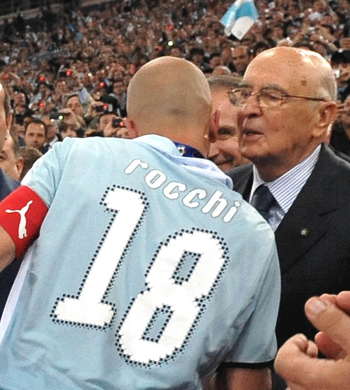 Coppa Italia 13 maggio 2009 - Pres. Napolitano con Rocchi (dal sito del quirinale)