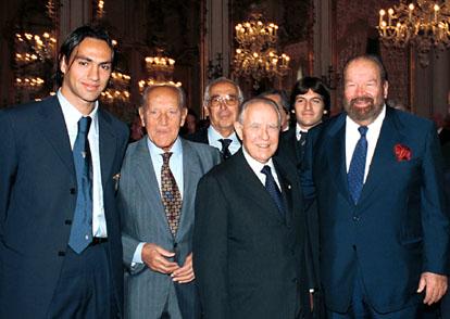Quirinale 23 ottobre 2000 - Pres. Ciampi con Pedersoli, Nostini e Nesta (dal sito del quirinale)
