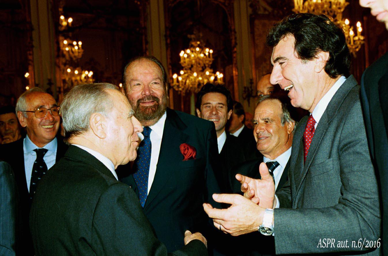 Quirinale 23 ottobre 2000 - Pres. Ciampi con Zoff(ASPR archivio fotografico settennato Ciampi foton.