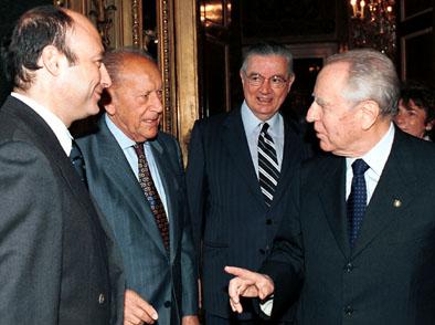 Quirinale 23 ottobre 2000 - Pres. Ciampi e Segr. Gen. Gifuni con Nostini e Buccioni (dal sito del qu